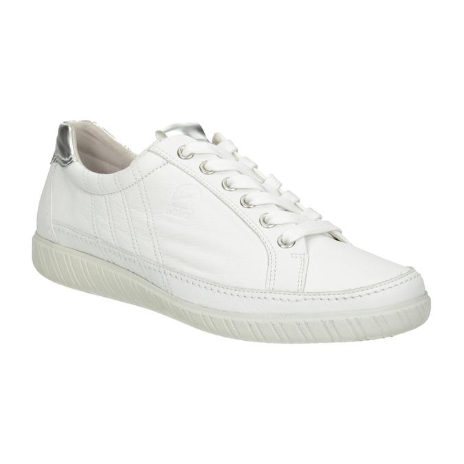 White leather sneakers gabor, white , 626-1204 - 13