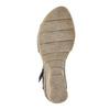 Leather wedge-heel sandals bata, blue , 626-9642 - 19