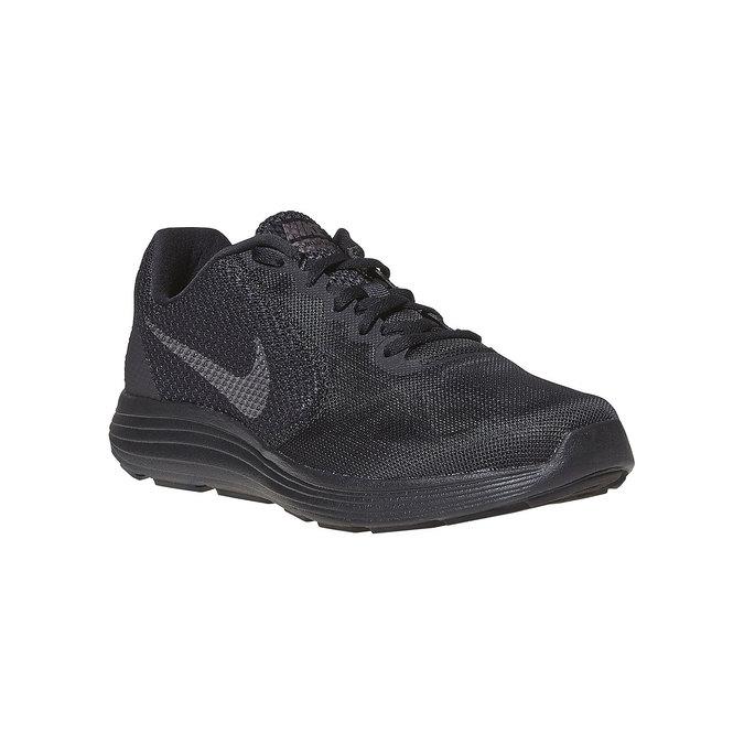 Men's sporty black sneakers nike, black , 809-6149 - 13