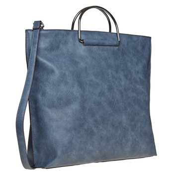 Ladies' blue handbag bata, blue , 961-9327 - 13