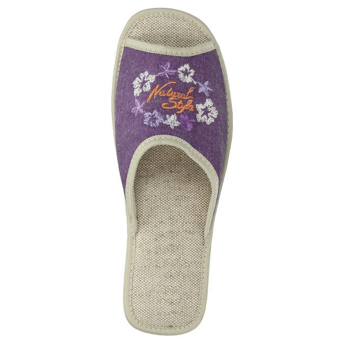 Ladies' wedge-heel slippers bata, violet , 679-5620 - 19