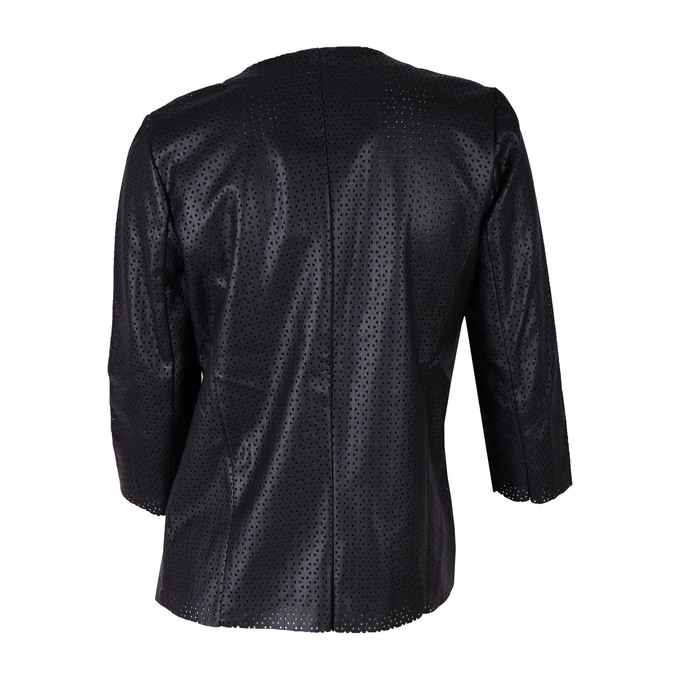 Ladies' perforated jacket bata, black , 971-6166 - 26