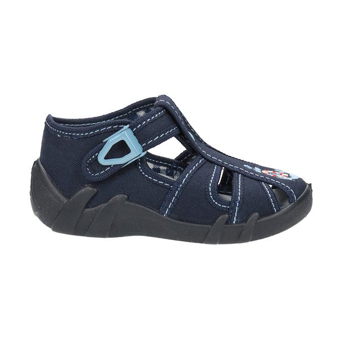 Children's blue slippers mini-b, blue , 179-9600 - 15