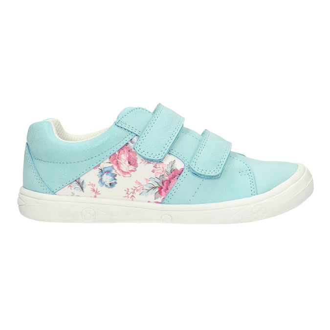 Children's sneakers with floral pattern mini-b, turquoise, 221-7605 - 15