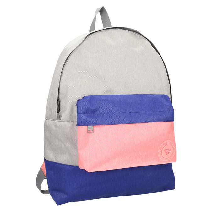 Coloured backpack roxy, gray , 969-2051 - 13