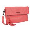 Ladies' leather crossbody handbag fredsbruder, red , 964-5037 - 13