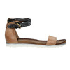 Ladies' sandals with contrasting strap bata, brown , 566-3603 - 15