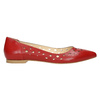 Red leather ballet pumps bata, red , 524-5604 - 15