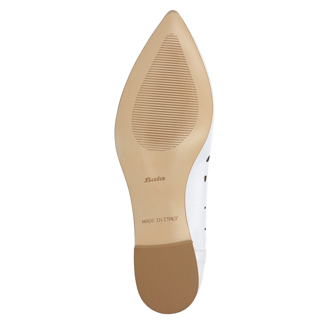 White leather ballet pumps bata, white , 524-1604 - 19