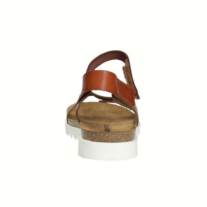 Ladies' leather sandals weinbrenner, brown , 566-4630 - 17
