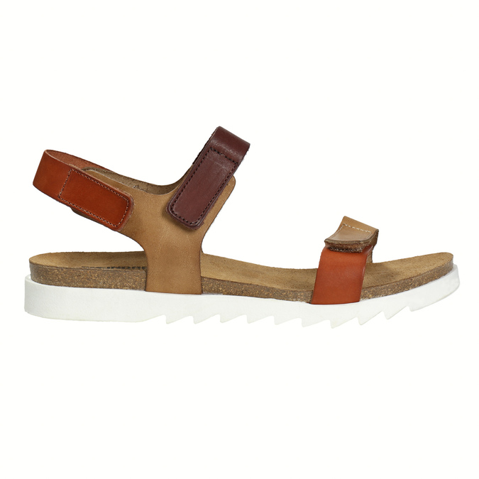 Ladies' leather sandals weinbrenner, brown , 566-4630 - 15