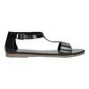 Black leather sandals bata, black , 564-6600 - 15