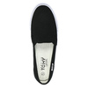 Ladies' black slip-ons tomy-takkies, black , 589-6170 - 19