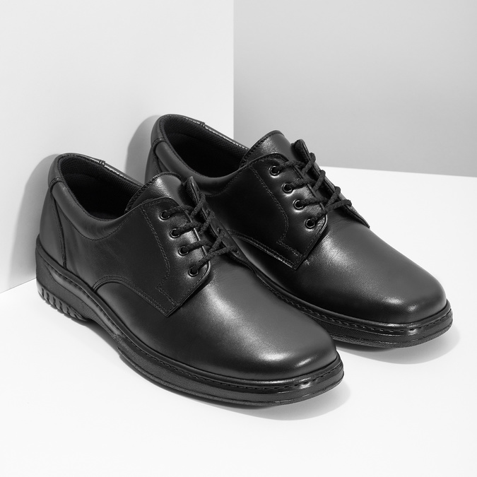 Men's shoes with a distinctive sole, black , 824-6540 - 26