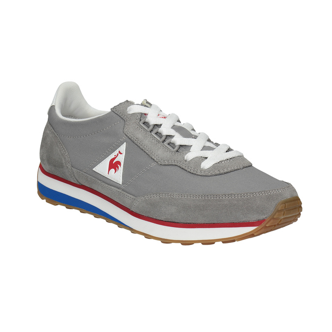 Men's grey sneakers with a distinctive sole le-coq-sportif, gray , 809-2272 - 13
