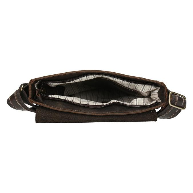 Men's leather bag bata, brown , 964-4283 - 15