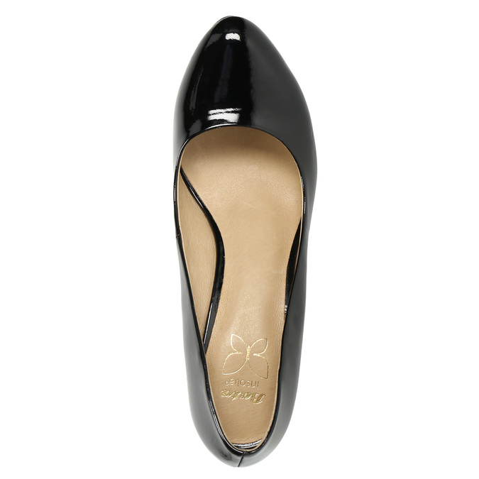 Black patent platform pumps insolia, black , 721-6609 - 19