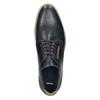Informal leather shoes bata, blue , 826-9910 - 26