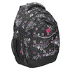 School backpack with print bagmaster, black , 969-6650 - 13