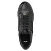 Casual leather sneakers bata, black , 524-6606 - 26