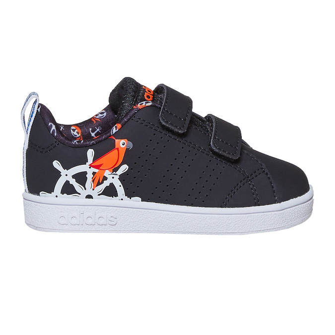 Children's sneakers with printed motif adidas, black , 101-6133 - 15