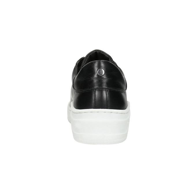 Leather sneakers with a distinctive sole bata, black , 526-6641 - 17