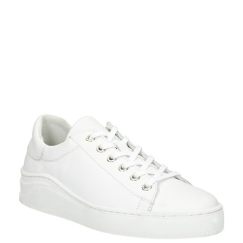 White leather sneakers bata, white , 526-1641 - 13