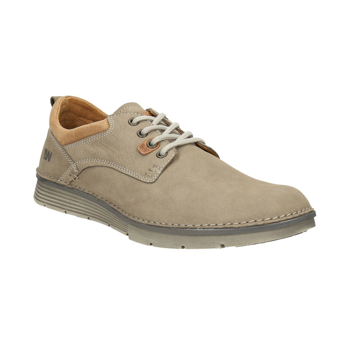 Men's leather shoes weinbrenner, beige , 846-8655 - 13