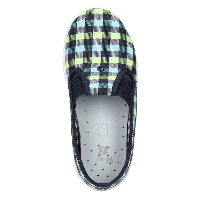 Kids' slippers mini-b, blue , multicolor, 379-0213 - 19
