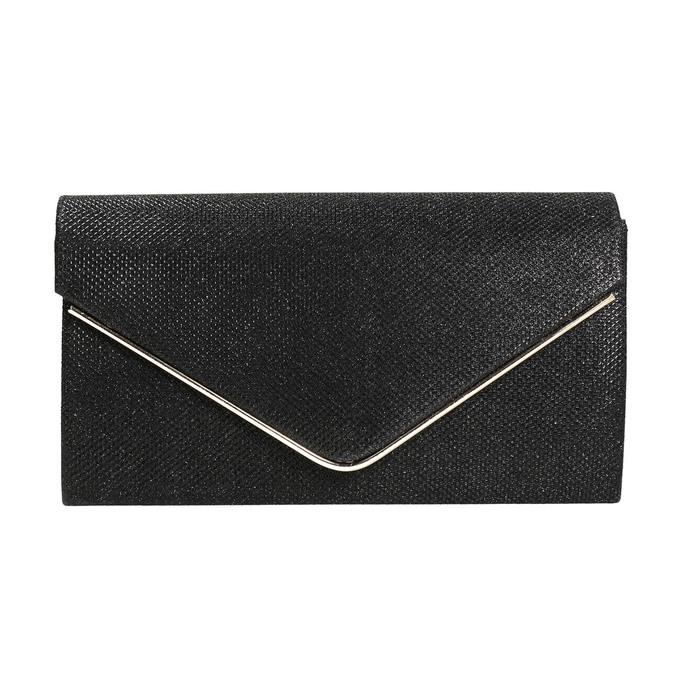 Ladies' black clutch bata, black , 969-6661 - 17
