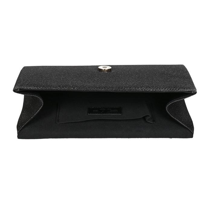 Ladies' black clutch bata, black , 969-6661 - 15