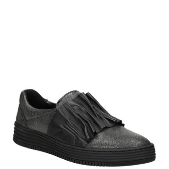 Ladies' leather slip-ons bata, black , 516-6614 - 13
