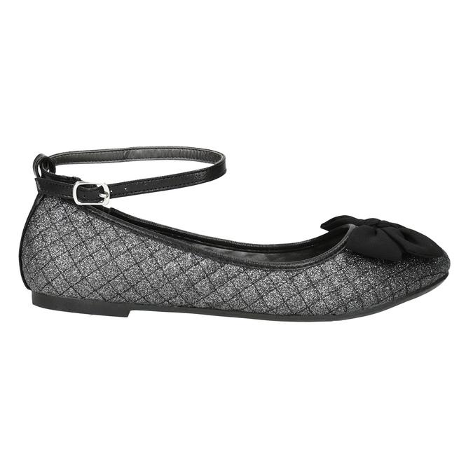 Girls' Sparkly Ballet Pumps mini-b, black , 329-6286 - 26