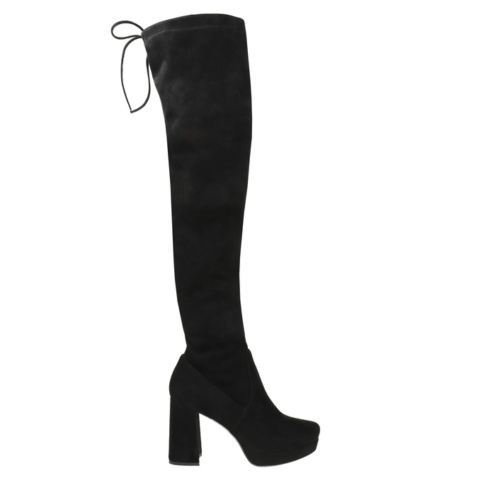 Ladies' black over-knee high boots bata, black , 799-6663 - 15