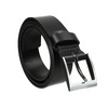 Men's leather belt bata, black , 954-6196 - 13