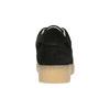 Leather sneakers with distinctive flatform bata, black , 523-6604 - 17