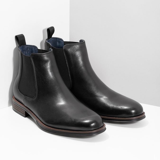 Leather Chelsea Boots bata, black , 894-6400 - 26