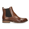 Brown leather Chelsea boots bata, brown , 594-4636 - 19
