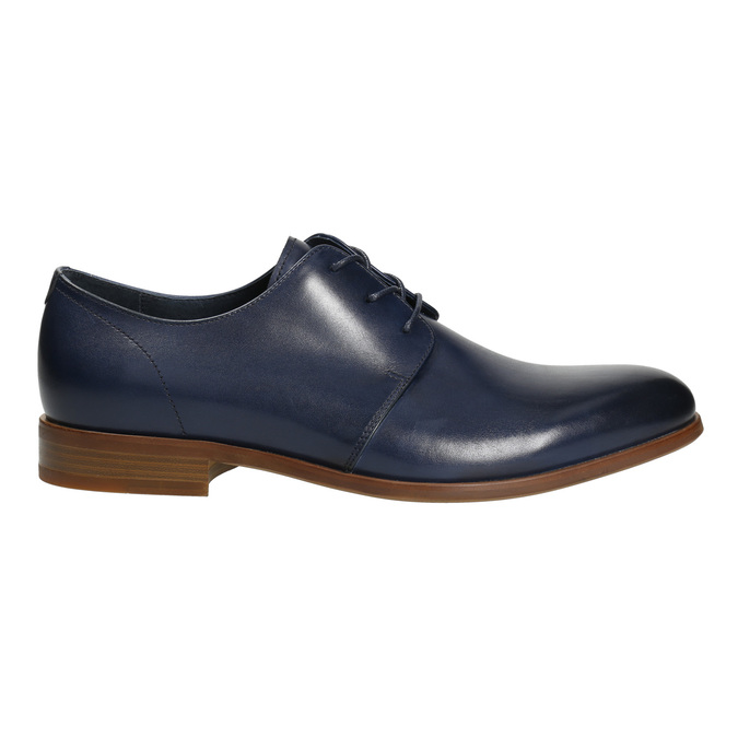 Blue leather shoes bata, blue , 826-9680 - 15