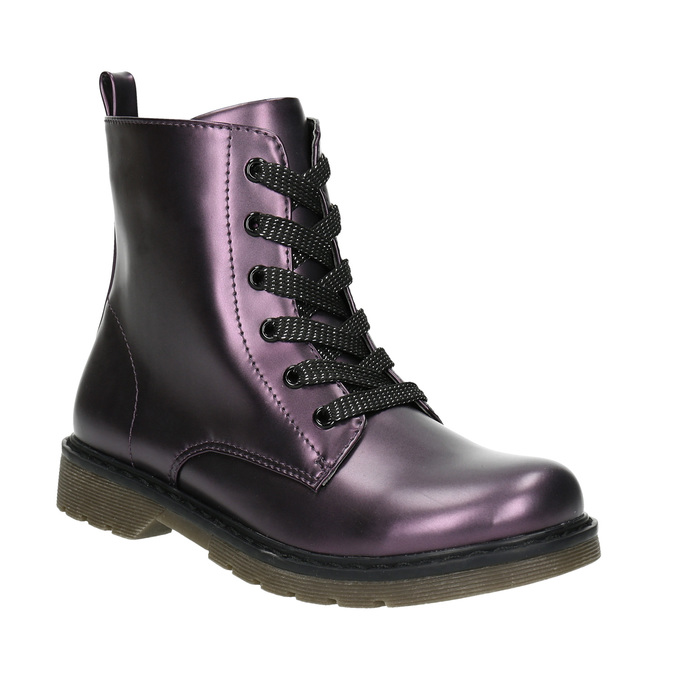 Metallic Children's Boots mini-b, violet , 321-9612 - 13