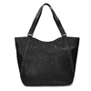 Black studded handbag, black , 961-6787 - 26