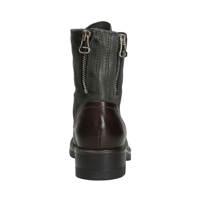 Ladies' Leather Boots bata, gray , 596-2616 - 16