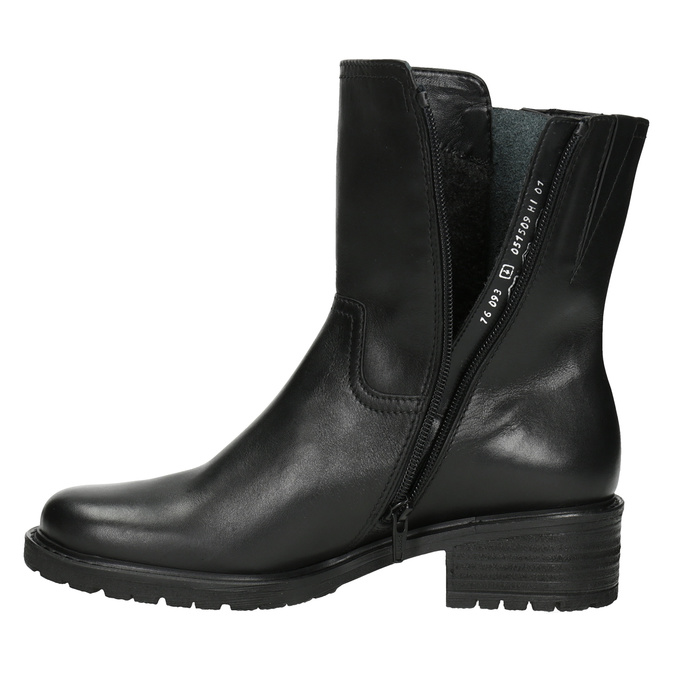Leather High Boots with Rugged Sole gabor, black , 614-6128 - 15