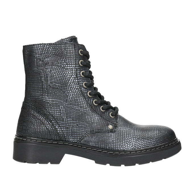 Children's Leather Lace-Up Boots, black , 496-6016 - 26