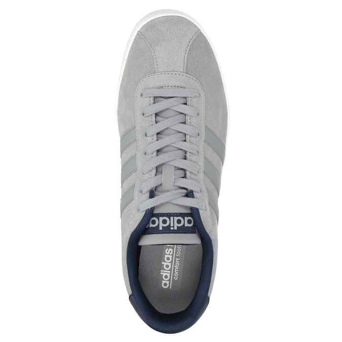 Grey Leather Sneakers adidas, gray , 803-7197 - 15