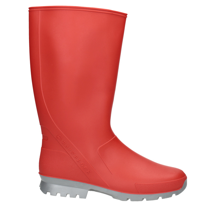 Ladies' Red Wellington Boots bata, red , 592-5140 - 26
