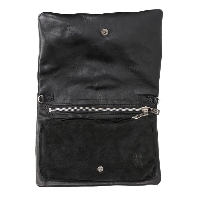 Ladies' Leather Crossbody Handbag a-s-98, black , 964-6044 - 15