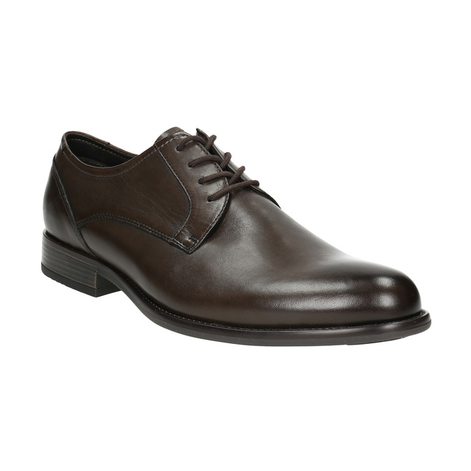 Brown leather Derby shoes bata, brown , 824-4618 - 13
