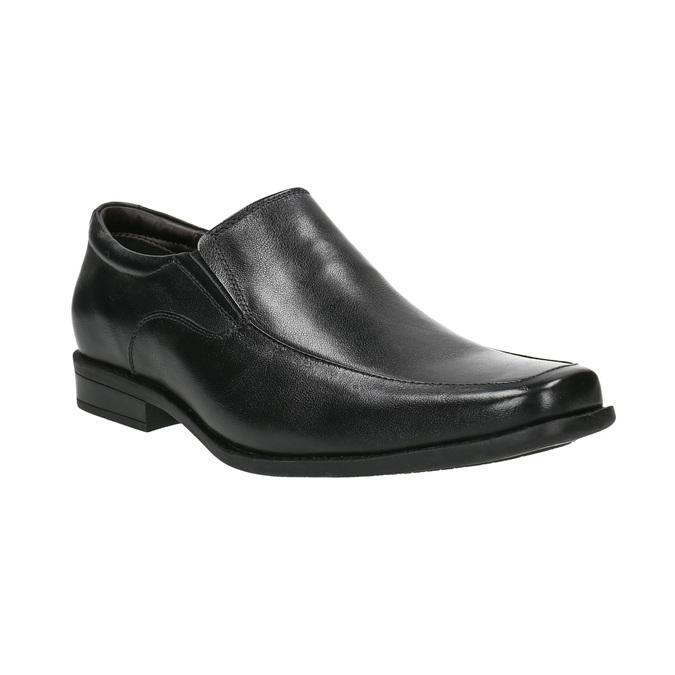 Men's leather Loafers bata, black , 814-6623 - 13
