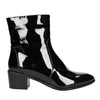 Ankle boots with lacquered finish bata, black , 691-6630 - 15